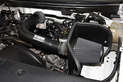 K&N Air Intake under the hood of Ford F150 & Lincoln Mark LT