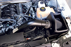 K&N 71-2581 Blackhawk Induction air intake system installed into a Ford F-150