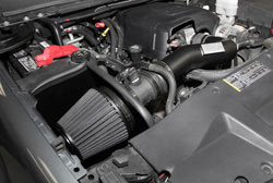 K&N Air Intake under the hood of Chevy and GMC Trucks