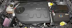 The 2014-2016 Jeep Cherokee 3.2L K&N intake includes an application specific air filter heat shield