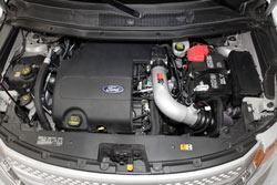 K&N Air Intake Installed on a 2011 Ford Explorer 3.5L V6.