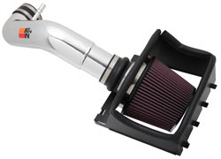 The polished K&N 77-2581KP intake will spruce up the engine bays of 2011-2014 F-150s with the 5.
