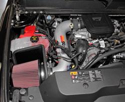 A K&N 77-3077KP Intake installed on a 2013 Chevy Silverado 3500HD Duramax 6.6L