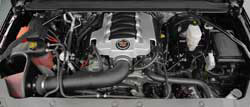 The 77-3082KP intake system's bright intake tube looks good under the hood of this 2014 Chevrolet Silverado