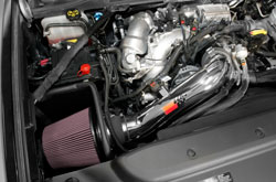 The K&N Air Intake Kit is a simple installation with no drilling and can be completed in 90 minu