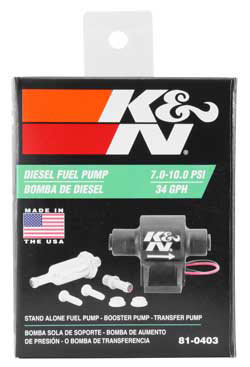 The entire line of K&N electric fuel pump units are light weight & compact with simple Installation using included bolts, and the two color coded wires makes getting 12V power stress-free