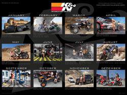 K&N 2014 Calendar Back Cover