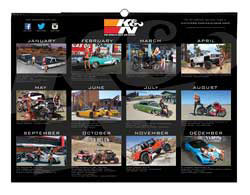 Some of RJ Anderson's infamous Polaris RZR XP 1000 SXS stunts will be featured in the upcoming limited edition K&N 2015 shop calendar, as well as the smaller K&N 2015 wall calendar