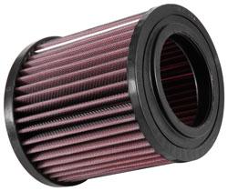 Die vielschichtigen und geölten Baumwolle Filtermedien in einem K&N Filter verbessert die Luftstrom Aufnahme
