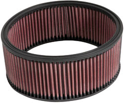 K&N's E-3551 round custom air filter.