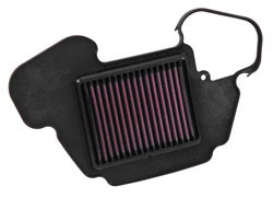 K&N air filter, HA-1313, is designed to fit into the stock air filter box of 2013-2015 Honda Grom / MSX125 motorcycles and will boost performance with the need for an aftermarket tuner