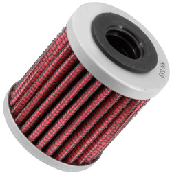 K&N motorcycle oil filter KN-559 is designed as an oil filter cross reference for the OEM 2008-2012 Can-Am Spyder Roadster transmission filter number 420256454