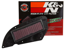 The K&N KY-2911 air filter for Kawasaki and Kymco scooters with box