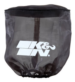 K&N Drycharger air filter wraps, like PL-3214, will prevent splashes of water or mud from saturating a K&N air filter while adding very little restriction