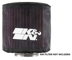 K&N Drycharger air filter wraps, like PL-3214DK, are custom made to fit a specific replacement air filter for an excellent fit
