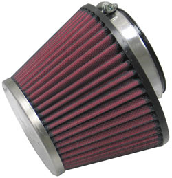 K&N Universal Chrome Top Round Tapered Universal Air Filter, part number RC-1624