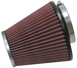 K&N Universal Chrome Top Round Tapered Universal Air Filter, part number RC-1637