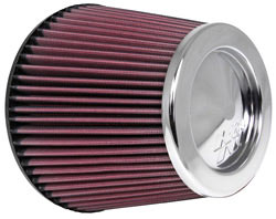 K&N Universal air filter RC-4381 with chrome top