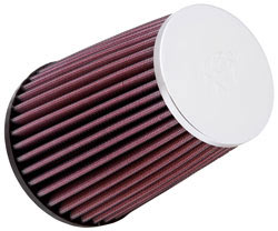 K&N reusable air filter, RC-5062XD, is fitted to the inlet of the Fiat 500 Abarth air intake