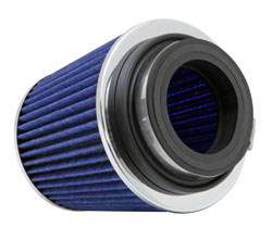 These universal K&N adjustable flange, clamp-on cone air filters are designed with inserts