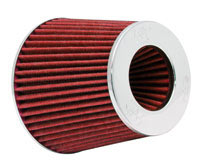 Red K&N Air Filter with Adjustable Inlet Flange