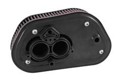 K&N created a custom Yamaha bolt black powder coated aluminum backing plate, with integrated velocity stacks, to provide a solid mounting surface