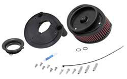K&N increased power for 2013-2015 Softail models by replacing the stock assembly with an open element high-flow K&N air filter