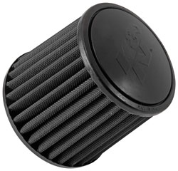 K&N RU-3103HBK black synthetic universal cone air filter