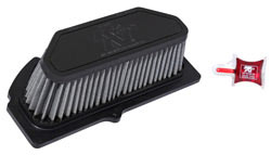 K&N purpose built, race specific air filter SU-1009R for 2009 to 2016 Suzuki GSX-R1000 motorcycles.