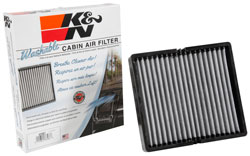 K&N Cabin Air Filters perform for up to 10 years or 1,000,000 miles