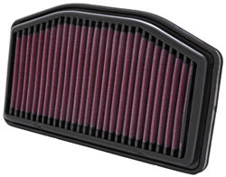 K&N air filter, part number YA-1009 for Yamaha YZF R1 1000