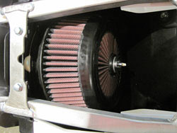 XStream motocross air filter installed in a motorcycle