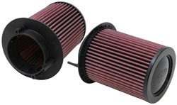 Replacement air filters, E-0668, for 2008-2013 Adui R8 4.2 liter V8 models