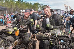 Michael Swift #202 and Kevin Trantham #209 celebrate a 1-2 win after the Wild Boar GNCC Race