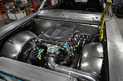 LT4 V8 with intake pipe and K&N air filer
