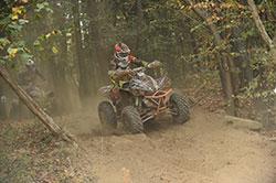 Jordan Phillips racing in GNCC race in West Virginia