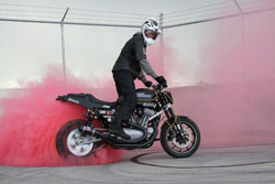 1WheelRevolution performs fully choreographed shows complete with colored smoke burnouts.