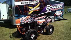 Jordan Phillips' race quad with trailer