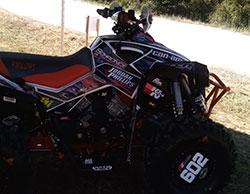 Jordan Phillips quad with K&N sticker