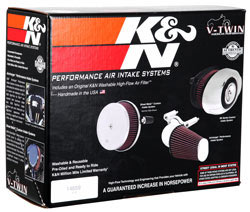 Box for K&N 57-1125 intake system for Harley-Davidson motorcycles