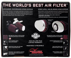 Back of box for K&N 57-1126 intake system for Harley-Davidson motorcycles