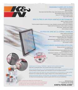 The K&N VF2014 Cabin Air Filter provides a literal breath of fresh air