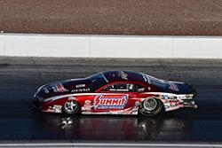 Greg Anderson, in his Summit Racing Chevrolet Camaro,