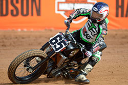 Cory Texter of Cory Texter Racing (CTR) takes on the competition and the track in AMA flat track competitions.