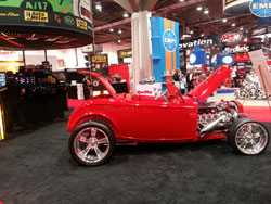 The 1932 Ford looks great in the Autometer booth at SEMA 2012