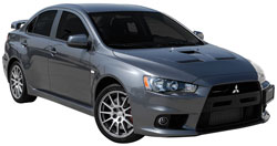 Mitsubishi Lancer Evolution 2.0L Turbo L4 with K&N's 69-6546TWR Performance Air Intake System