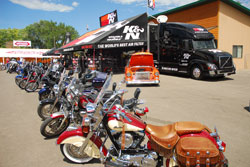 Bike parking in front of the New K&N Truck and Trailer