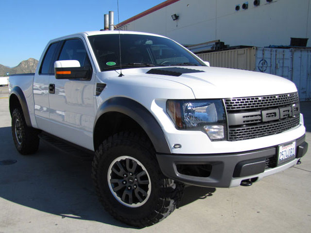 2010 to 2015 ford f-150 svt raptor with 6.2 liter engine gets