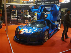 The Gumpert Apollo Sport was the centerpiece of the K&N booth