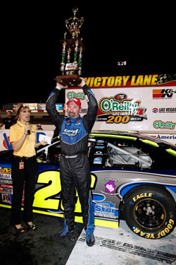 NASCAR K&N Pro Series West Driver Greg Pursley in Victory Lane